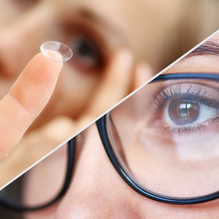 contact lenses vs glasses elean