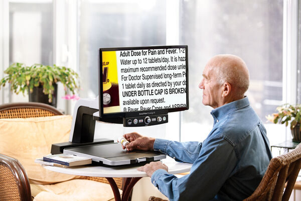 Advanced LCD low vision magnifiers